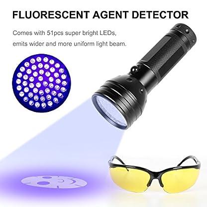 Simply Plus Black Light UV Flashlight, 51 LED Ultraviolet Black Light For Urine Detection For Pet Urine 5