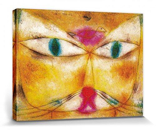 1art1 Paul Klee - Katze Und Vogel, 1928 Poster Leinwandbild Auf Keilrahmen 80 x 60 cm
