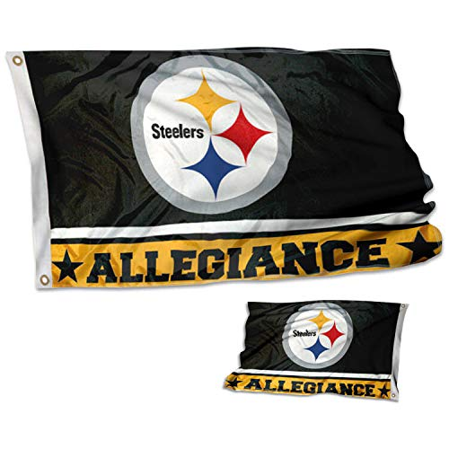 WinCraft Pittsburgh Steelers Double Sided Allegiance Flag