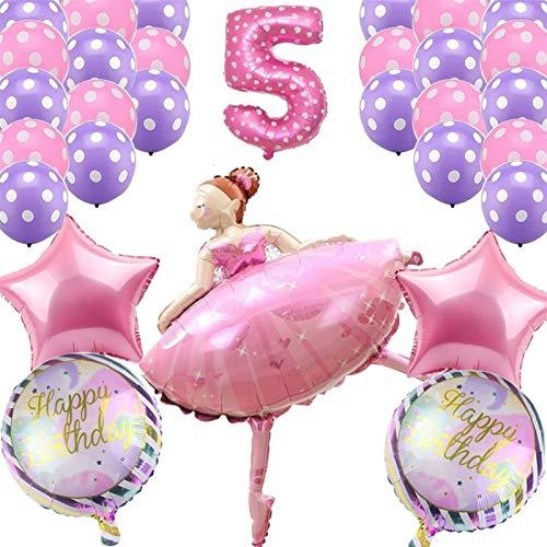ZHEMAIDZ balloon 30pcs Dancing Girl Balloons Wedding Ballerina Girl Balloon Children Happy Birthday Party Ballon Decoration Baby Shower (Color : Burgundy)