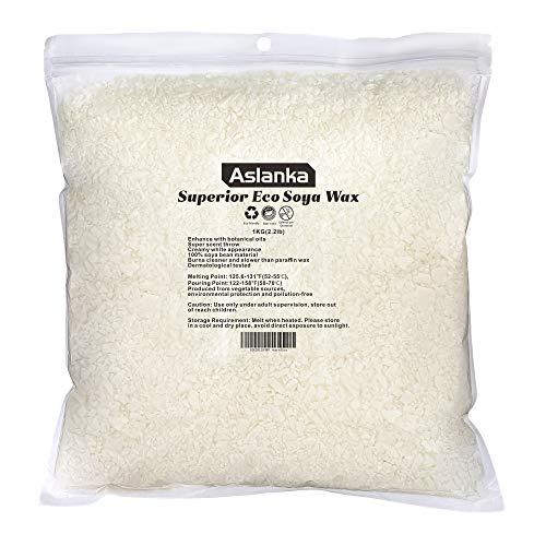 Premium Cera de Soja - Cera para velas -cera de soja natural ecológica para fabricar velas (1Kg)