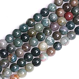 GEM-inside Indian Agate Gemstone Loose Beads 8mm Round Crystal Energy Stone Power For Jewelry Making 15