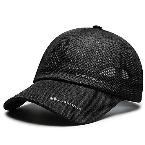 VoilaLove Berretto da Baseball Unisex Quick Dry Airy Mesh Protezione UV per Esterni Cappelli da Sole Cappellini Sportivi per Golf Ciclismo Pesca in Esecuzione (C-Nero)