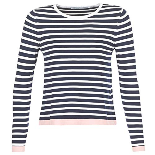 Only Onlsuzana L/s Pullover Knt Noos suéter, Multicolor (Night Sky Detail: W. Cloud Dancer/Rose Smoke), 34 (Talla del Fabricante: X-Small) para Mujer