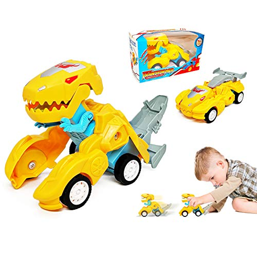 Toys for 2-8 Year Old Boy, Birthday Gifts for Kids Dinosaur Transforming...