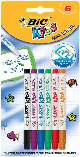 BIC KIDS WhiteboardMarker Velleda Mini, 6er Blister 8413871
