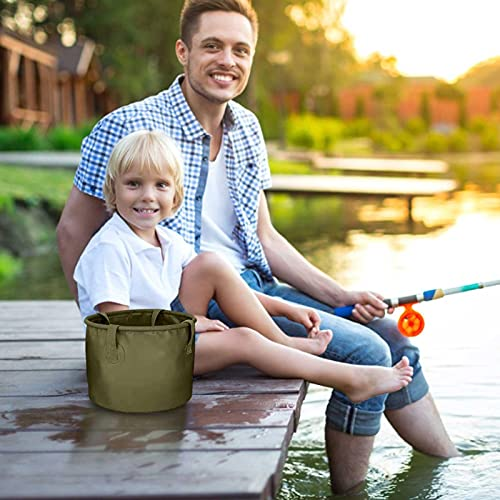 Gidenfly - Cubo plegable de almacenamiento de camping plegable, 7 l, 13 l, 20 l, cubo ligero portátil para camping, viajes, senderismo, pesca, náutica y jardinería