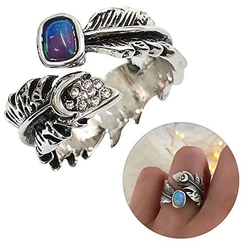 Anillo abierto Hunpta anillo de dedo ajustable, anillo de dedo del pie, joyería para mujeres y niñas (plata)