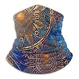 LAOLUCKY étnico místico asiático mandala psicodélico cuello calentador de esquí cuello polaina cubierta máscara facial capucha invierno sombreros para hombres mujeres niños niñas