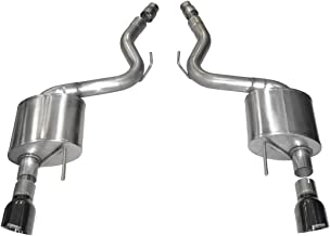Corsa 14326BLK Exhaust, Black Dual 4.5in Tip Sport(2015 Ford Mustang GT 5.0 3in Axle Back)