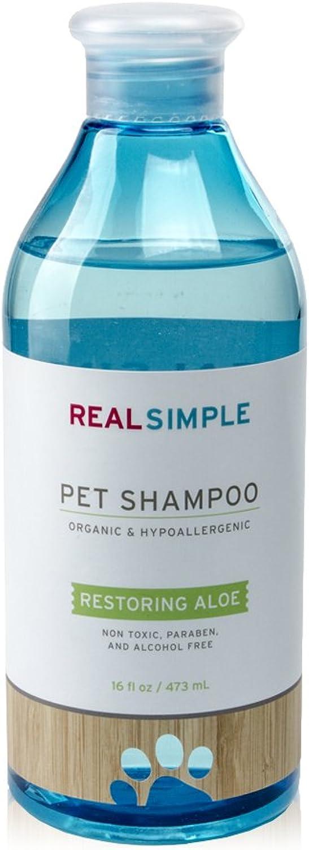 REAL SIMPLE Hypoallergenic Organic Pet Shampoo 16 OZ  ALOE