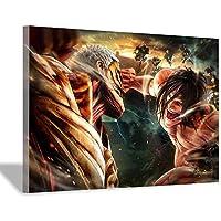 巨大ポスターへの攻撃アニメキャラクター壁画装飾アートプリントギフトキャンバス絵画30x45cm(12x18inch)フレームレス壁画8