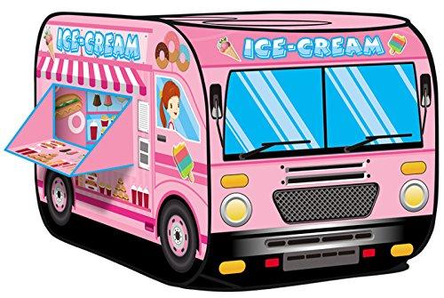 Kiddie Play Ice Cream Truck Pop Up Kids Play Tent for Boys & Girls Indoor Outdoor Toy