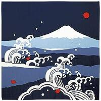 濱文様 大布(風呂敷 90cm) 富士山と大波 コン