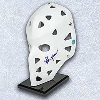 Mike Vernon Autographed Full Size White Retro Goalie Mask - Calgary Flames - Autographed NHL Helmets and Masks