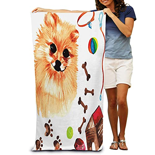 IUBBKI Veterinary Kit Comprising Pomeranian Dog Accesso Bath Towel for Adult Absorbent Soft Quick Dry Ultra Shaggy Beach Pool Towel 31 x 51