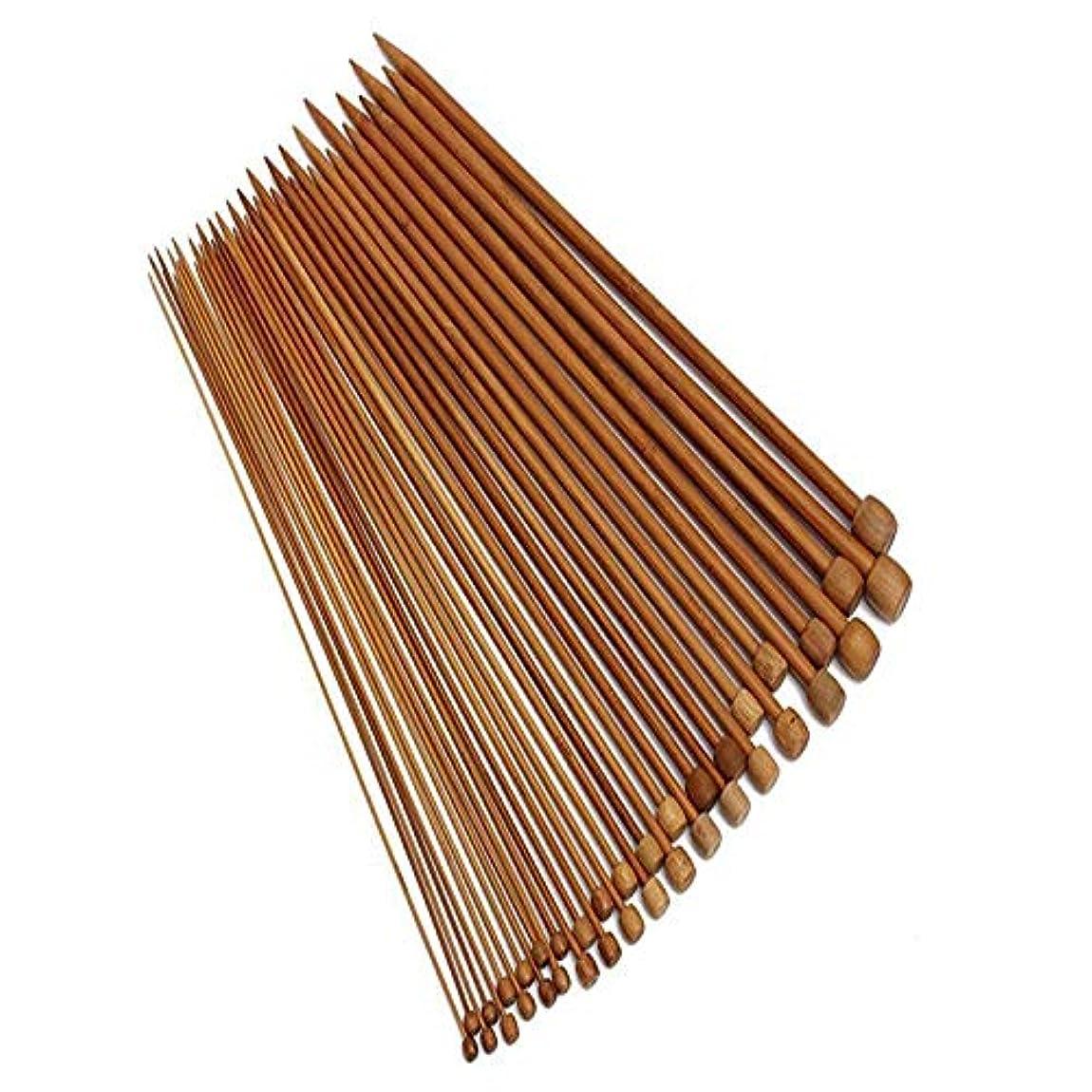 社会疑い機構竹針編み針編み針セット、一点炭化編み針、手作りクリエイティブDiyセータースカーフ編み物クラフトツール18