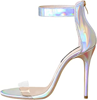 Best holographic heeled sandals Reviews