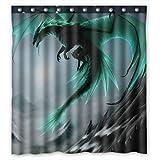 Spezielle Design fliegender Drache Muster Wasserdicht Badezimmer Stoff Duschvorhang, Bad Decor 167,6x 182,9cm Zoll