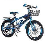 YC Bicicletta per Bambini Mountain Bike Fattore di Sicurezza per Biciclette Sensibile ad Alta velocità 7-8-10-12-15 Anni Ragazzo di Mezza età Mountain Bike a velocità variabile