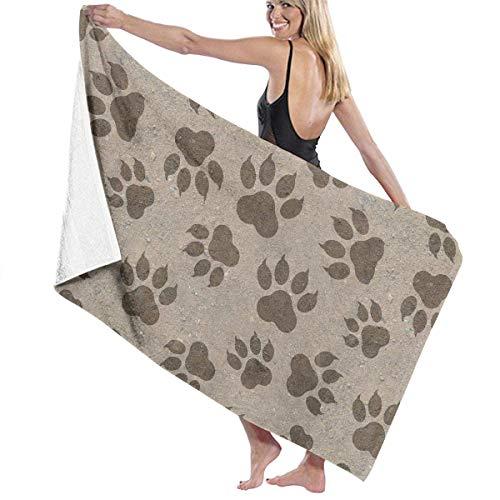 ZYWL Funny Yoga Dog Absorbent Beach Towels Oversized Blanket for Gym Yoga Pool Bath Spa