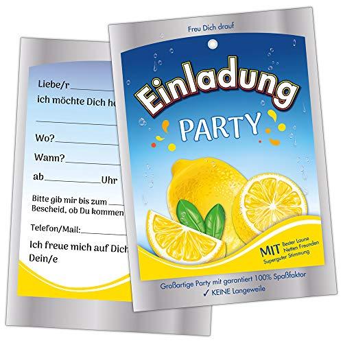 10 Lustige Einladungskarten Kindergeburtstag Einladungen Geburtstag Jungen Mädchen Kinder Capri Sonne Einladungen Karten Feier Party witzig cool