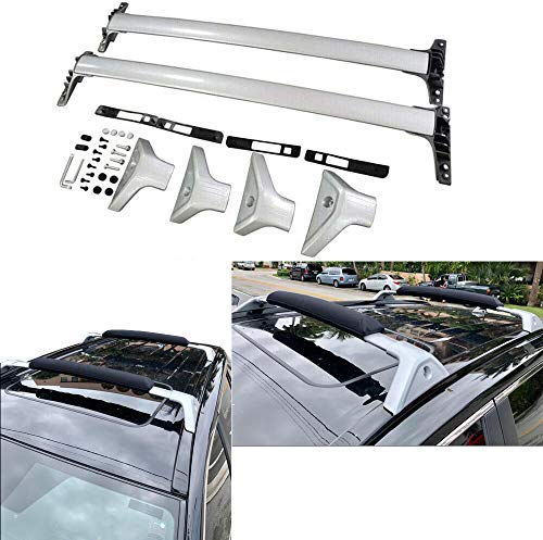ROSY PIXEL Roof Rack Cross Bars for 2019 2020 Toyota RAV4 Luggage Carrier Aluminum Silver for RAV4(excludes Adventure Grade)