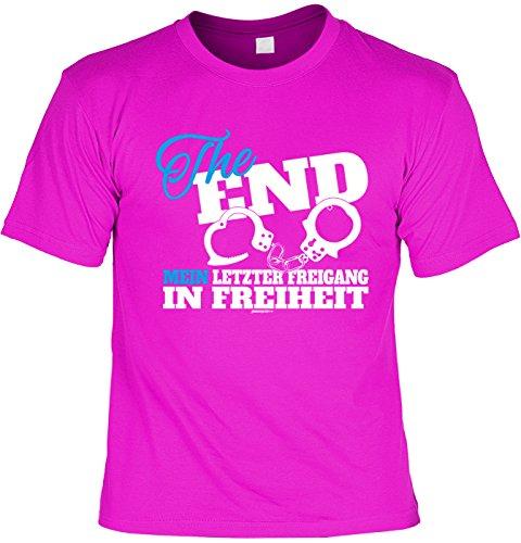 Junggesellenabschied T-Shirt, JGA, Polterabend, Party Shirt zum Poltern - The End Mein letzter Freigang in Freiheit