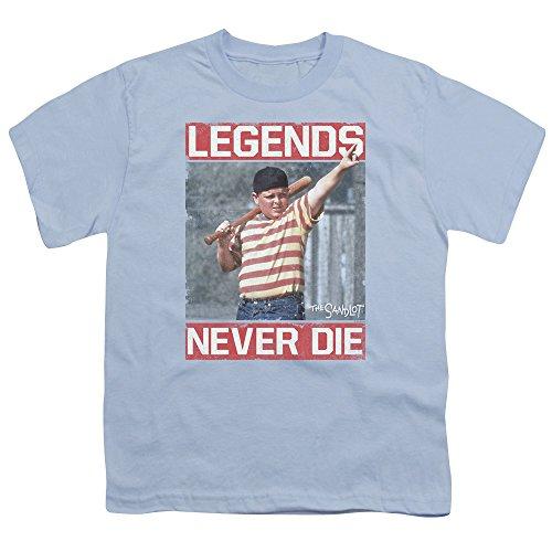 Sandlot Legends Unisex Youth T Shirt for Boys and Girls, Large Light Blue