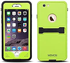 Generic Lifetime Waterproof Case with Automatic Suction Magnet Kickstand Fingerprint Recognition Touch ID For iPhone 6 6s (4.7'' Version)-Retail Packaging Light Green