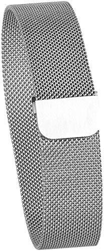newgen medicals Uhrenarmband: Milanaise-Armband für Uhren mit 20-mm-Steg, Magnet-Verschluss, Silber (Uhrenband)