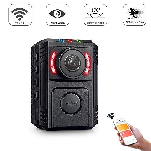 GZDL Police Body Camera for Law Enforcement Video Recorder 1080P Surveillance Body Worn Camera Wireless Mini Portable Body Camera with Phone App