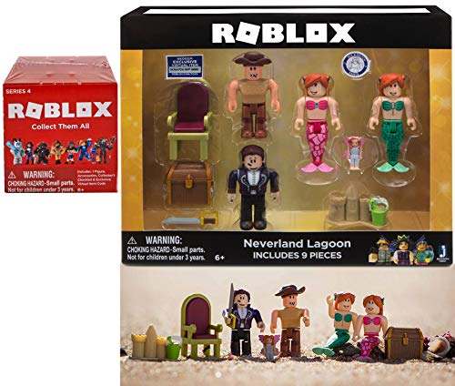 Mermaids & Sandcastles Character Compatible with Roblox Figure Collection Neverland Lagoon Bundled with Red Blind Box Series Mini Figure Pack 2 Items Virtual Code Citizens / Workers / Mix N' Match