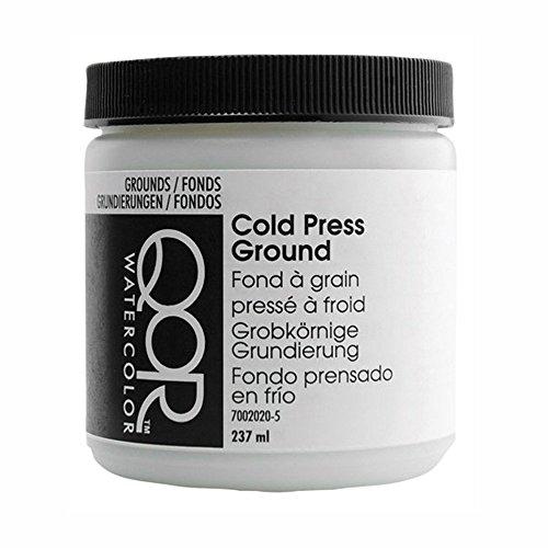 Golden QoR Watercolor Cold Press Ground White 8 Oz