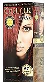 Color time, tinte permanente para el cabello de color rojo intenso 67
