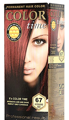 Color Time Haarfarbe Permanent, mit Gelée royale, 67 Intensiv Rot