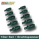 Drahtspanner Gr. 3 grün für Spanndrähte bis Ø 3,8mm, 10er Set