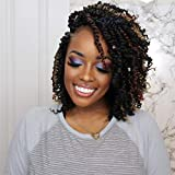 Toyotress Tiana Passion Twist Hair - 10 inch 8 Packs Pre-Twisted Passion Twists, Pre-Looped Crochet Braids Made Of Bohemian Hair Synthetic Braiding Hair Extension (10 Inch, 1B)
