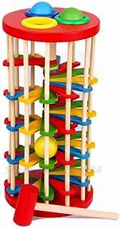 لعبة كاتربيلر ايتس التعليمية الخشبية للاطفال الصغار في مرحلة الطفولة المبكرة من سن الولادة الى 24 شهرًا مع الونٍ زاهية