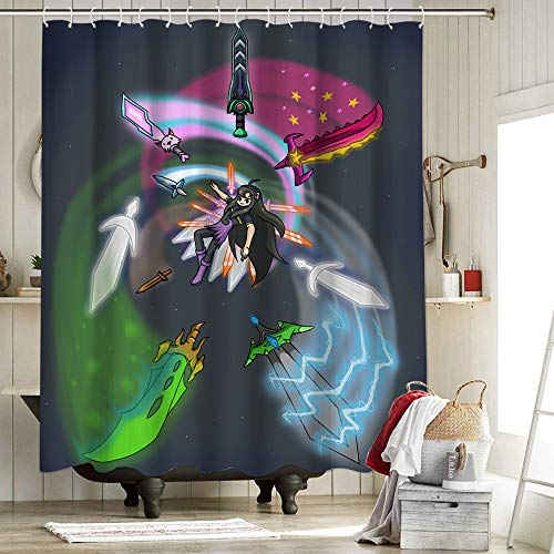 Terraria Para Game Shower Curtains Personality Waterproof Resistant 3D Printing Polyester Shower Curtains for Bathroom Pixel square game Destroyer Terraria Diary of a Terraria Noob 62x72 Inch