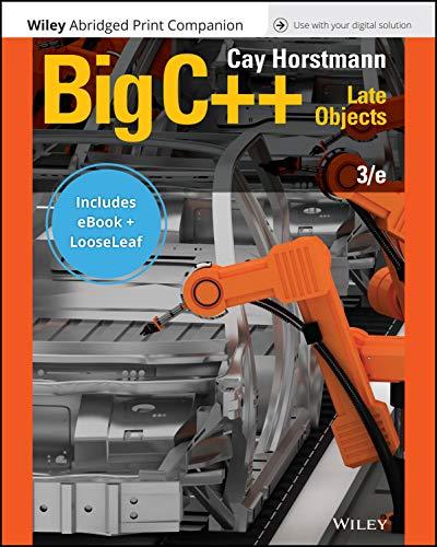 Big C++, 3e EPUB Reg Card Loose Leaf Print Companion Set