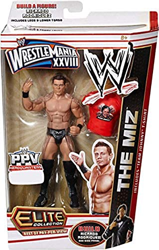 WWE Elite Collection Best Of Pay-Per-View Wrestlemania XXVIII The Miz With Ricardo Rodriguez Build A Figure Piece