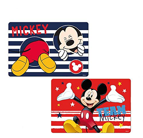 Disney 3D Placemats for Dining Table Kitchen Mat Baby Placemat 3D Placemats for Dining Table Reusable Washable 2 at Price of 1 BPA-Free Floor Mats for Kids (Mickey Mouse)