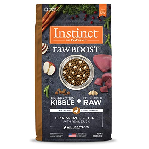Instinct Raw Boost Grain Free Recipe with Real Duck Natural Dry Dog Food by Nature's Variety, 4 lb. Bag