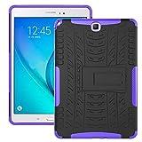 YANBING Tablette Etuis Couverture de Tablette pour Samsung Galaxy Tab A 9.7inch / T550 T555 Texture...