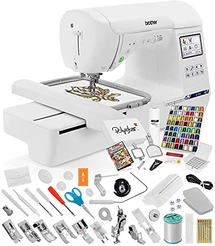 Brother SE1900 Sewing and Embroidery Machine w/ Grand Slam Package Includes 64...