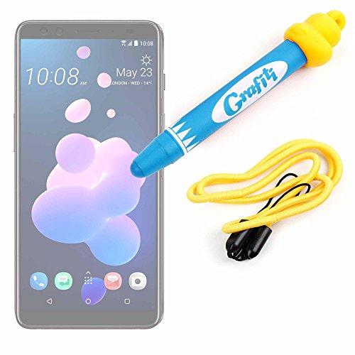 DURAGADGET Divertido lápiz Stylus para niños, para Dibujar y Jugar con su Smartphone HTC U12+ Color Azul.