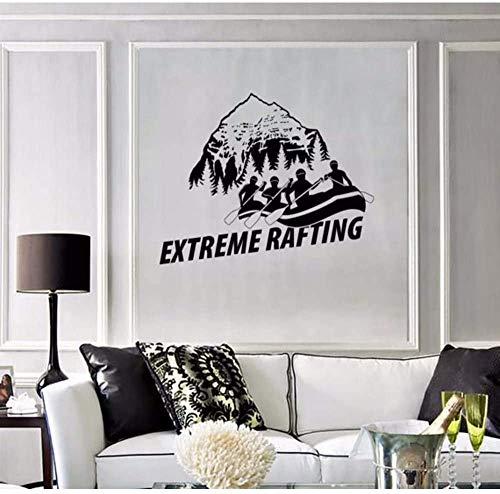 Preisvergleich Produktbild Abnehmbare Aufkleber Hills View White Water Extreme Rafting Englisch Zitate Wandbild Home Art Decor Extreme Sport Style Wallpaper 74 * 102.Cm.