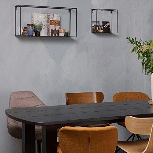 Maison ESTO Wandregal MEERT XL 70 cm Metall schwarz Ablageregal Aufbewahrung Rack Regal