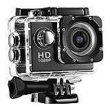 2020 New Full HD 1080P Waterproof Digital Camera System, Sports Action Camera DVR Cam DV Video Camcorder (Black)